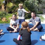 Gymnastic lessons for children at Tekne Family Retreats Ibiza