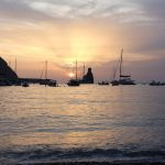 Beautiful Ibiza sunset at Tekne fitness retreats