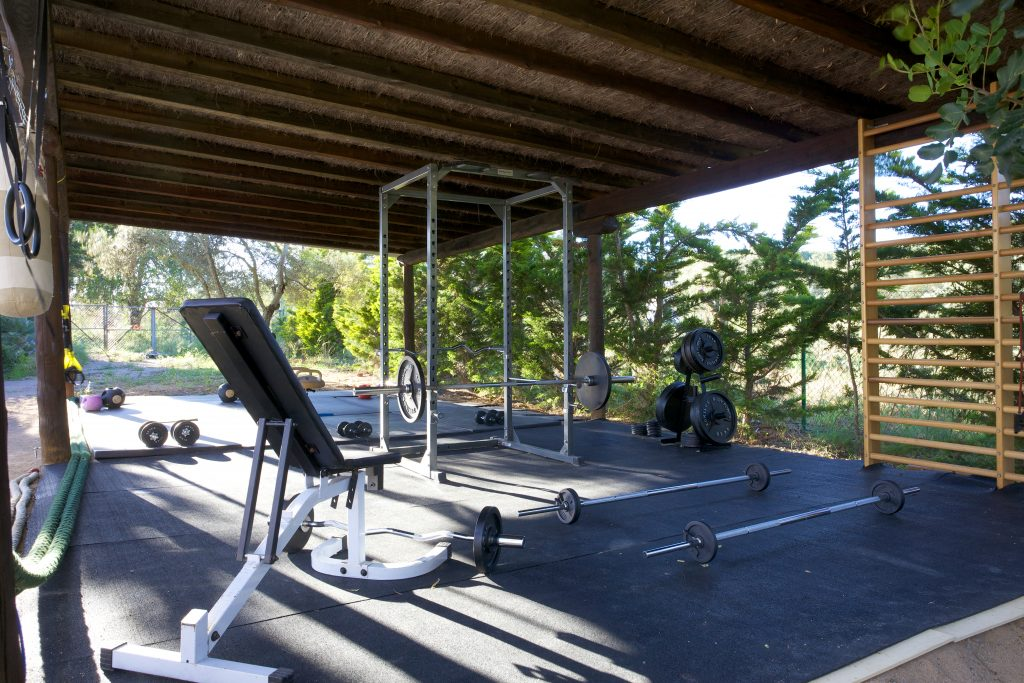 Fully equipped gym at Tekne Fitness Retreats Ibiza