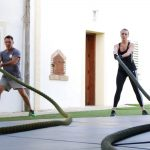 Intensive rope training at Tekne Fitness Retreats Ibiza