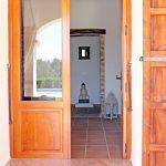 Main door to guesthouse at Tekne Fitness Retreats Ibiza