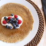 Pancake with berries for a healthy breakfast at Tekne Fitness Retreats Ibiza