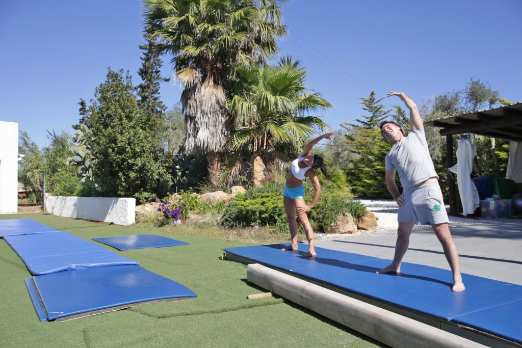 Personal training in the sun at Tekne Fitness Retreats Ibiza