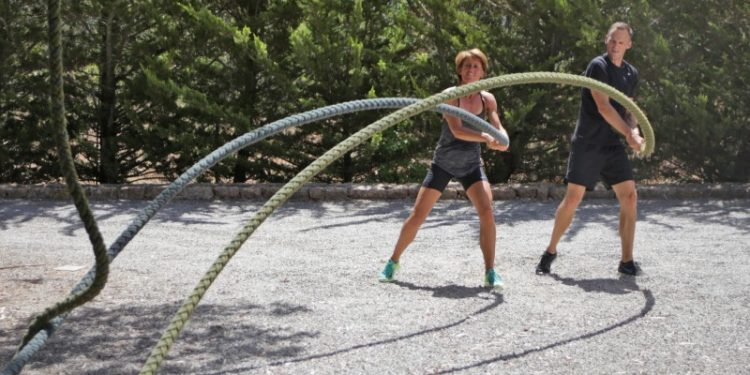 Functional Training at beach with Tekne Fitness Retreats Ibiza