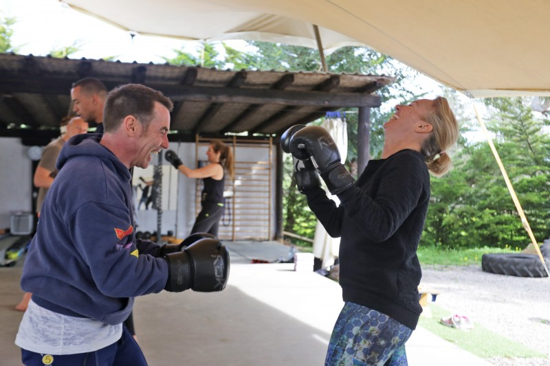 Boxing training fun Tekne Fitness Retreats Ibiza