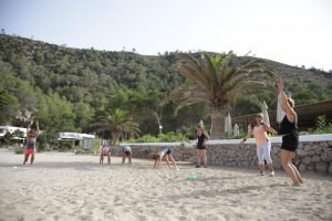 Beach training with Tekne Fitness Retreats Ibiza